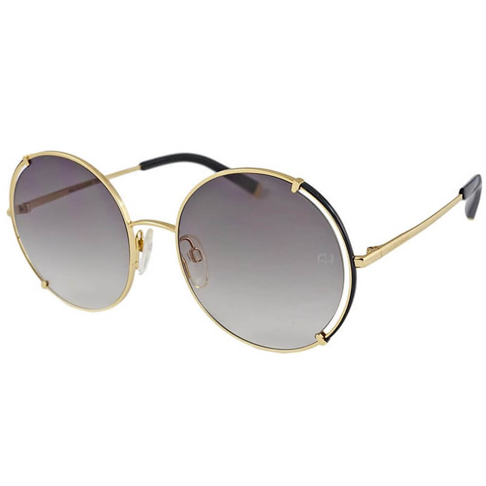 Ana Hickmann okrągłe okulary przeciwsłoneczne w kolorze złotym z cieniowanymi soczewkami