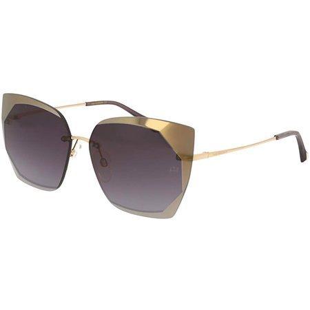 Ana Hickmann stylowe okulary przeciwsłoneczne kocie oczy, z oryginalnym frontem