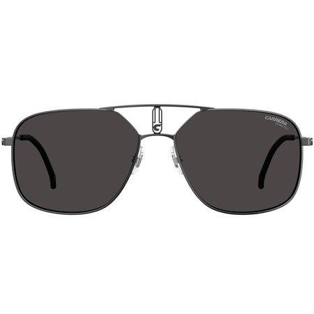 Carrera męskie okulary przeciwsłoneczne pilotki, stalowe z oryginalnie zdobionym mostkiem