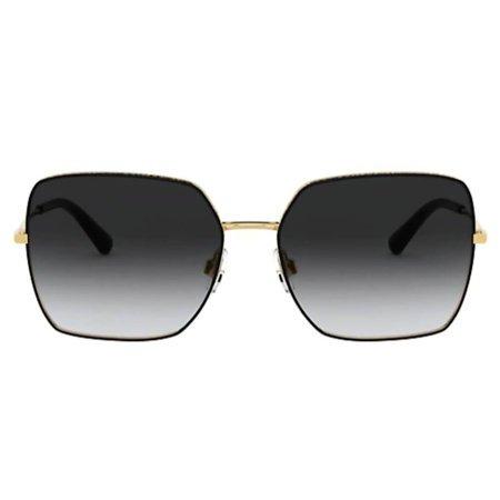Dolce & Gabbana okulary przeciwsłoneczne złote, oversized w kształcie kwadratu