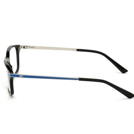 Guess duże prostokątne okulary męskie kolor czarny błysk GU 1986 001 (57)