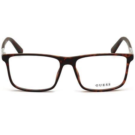 Guess kwadratowe męskie okulary w kolorze havana GU 1982 052