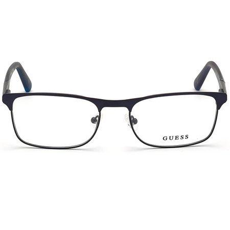 Guess lekkie metalowe okulary męskie granatowy mat GU 1981 091