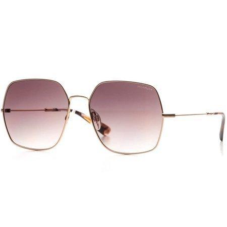 Hickmann okulary przeciwsłoneczne w delikatnej złotej ramce, z  lekko przyciemnionymi szkłami