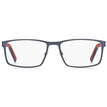 Tommy Hilfiger metalowe męskie okulary czerwono-granatowe TH 1593 IPQ